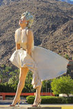 Marilyn Monroe in Palm Springs. Marilyn Monroe statue on a sunny day in Palm Springs royalty free stock photography