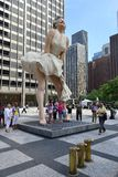 Marilyn Monroe in Pioneer Court, Chicago Royalty Free Stock Photos