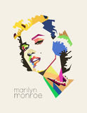Marilyn Monroe Pop Art royalty-vrije illustratie