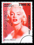 Marilyn Monroe Postage Stamp Royalty Free Stock Images