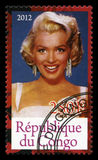 Marilyn Monroe Postage stamp Stock Photo