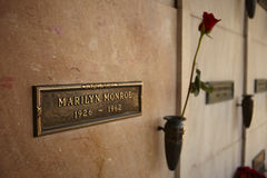 Marilyn Monroe's Crypt Royalty Free Stock Photography