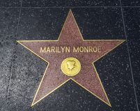 Marilyn Monroe-` s Stern, Hollywood-Weg des Ruhmes - 11. August 2017 - Hollywood Boulevard, Los Angeles, Kalifornien, CA Stockbild
