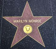 Marilyn Monroe star on the Walk of Fame Stock Photo