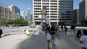Marilyn Monroe Statue. Time Lapse of Marilyn Monroe statue in Chicago