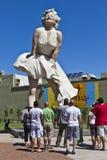 Marilyn Monroe staty Fotografering för Bildbyråer