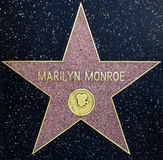 marilyn monroe stjärna Arkivfoto