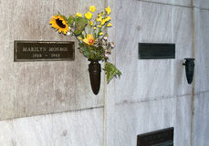 Marilyn Monroe tomb Royalty Free Stock Images