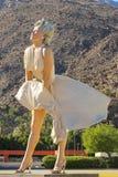 Marilyn Monroe w palm springs Fotografia Royalty Free