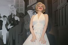 Marilyn Monroe - Wachsstatue Lizenzfreies Stockbild