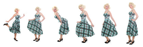 Marilyn Monroe Wannabe Royalty Free Stock Photography