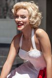 Marilyn Monroe Wax Figure. A life size wax figure of Marilyn Monroe displayed on the sidewalk of Hollywood Boulevard, Hollywood, California Stock Images