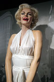 Marilyn Monroe wax statue. Waxwork statue of Marilyn Monroe in the Madame Tussauds Museum from Amsterdam, Netherlands stock photos
