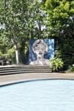 Marilyn Monroe wizerunek przy modernisty ogródu Hamilton ogródami Nowa Zelandia NZ Obrazy Royalty Free