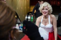 Marilyn Monroes Wachsfigur Stockfotos