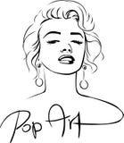 Marilyn Sketch Pop Art Design - vector illustration Royalty Free Stock Images