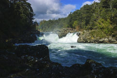 Waterfall of Marimán Stock Images
