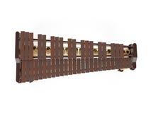 Marimba die bij het witte 3d teruggeven wordt geïsoleerd Stock Foto's
