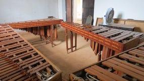 Marimba en typ av xylofonen Royaltyfri Foto