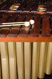 Marimba keys and resonators. A detail take of a marimba, its keys and resonators Royalty Free Stock Photos