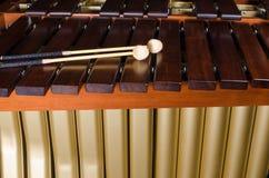 Marimba  keys and resonators. A detail take of a marimba, its keys and resonators Royalty Free Stock Photos