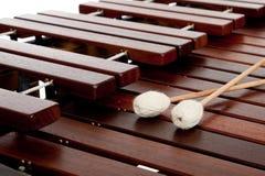 Marimba met houten hamers Stock Foto's