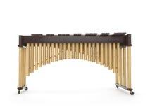 Marimba na białym 3d renderingu Obrazy Royalty Free