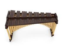 Marimba på den vita tolkningen 3d Arkivfoto