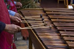 Marimba Players. Playing in Chiapas, Mexico Stock Photos