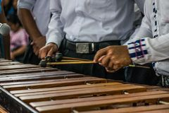 Marimba San Lucas Toliman. Indigenous instrument of Guatemala stock photos