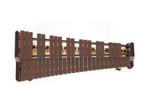Marimba som isoleras på den vita tolkningen 3d Arkivfoton