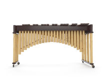 Marimba on white 3d rendering royalty free stock images