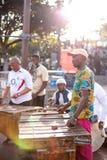 Marimba zespołu spełnianie przy Alfred nabrzeżem i Wiktoria zdjęcia royalty free