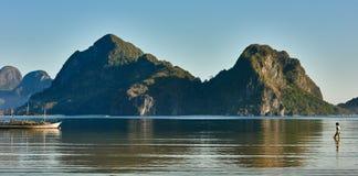 Marimegmeg海滩El Nido巴拉望岛菲律宾 库存照片