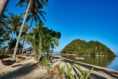 Marimegmeg beach El Nido Palawan Philippines Royalty Free Stock Photography