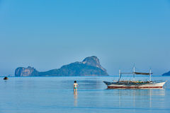 Marimegmeg beach El Nido Palawan Philippines Royalty Free Stock Photos
