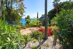 Marimurtra植物园在巴塞罗那,西班牙附近的布拉内斯 免版税库存照片