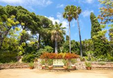 Marimurtra botanisk trädgård, Blanes, Spanien Arkivbild