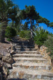 Marimurtra garden in Blanes, Costa Brava, Spain Royalty Free Stock Image