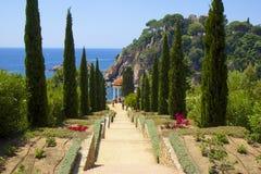 Marimutra trädgård i Blanes, Spanien Fotografering för Bildbyråer
