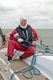 Marin au travail pendant le chemin de navigation Image stock