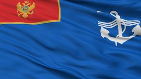 Marin av sikten för Montenegro flaggaCloseup arkivfoton