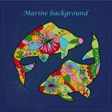 Marin- bakgrund Royaltyfri Bild