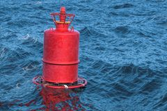 Marin- boj i det öppna havet, 3D stock illustrationer