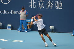 Marin Cilic dans la demi-finale de la Chine ouverte Image stock
