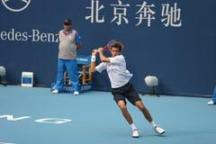 Marin Cilic in de halve finale van Open China Stock Afbeelding