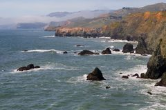 Marin County Coast. In California Stock Photography