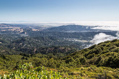 Marin County landscape. View of the Marin County bay area and Richardson bay from top of Mt. Tamalpais trail Royalty Free Stock Image