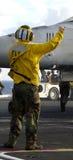 Marin dans l'action Image libre de droits