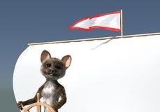 Marin de souris de drapeau de flèche Photographie stock libre de droits